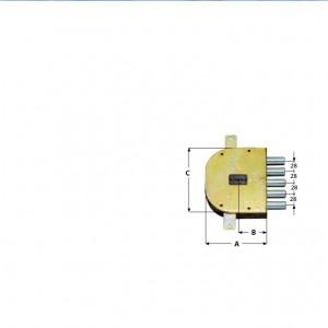 Serratura cr 2205/28 per blindate doppia mappa