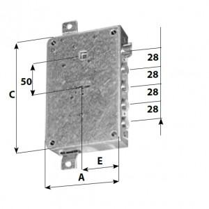 DIMENSIONI mm :A 122; E  60;  C 177.