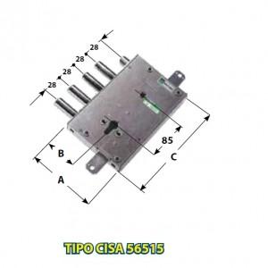 DIMENSIONI mm : A 128; B 64; C 203